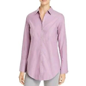 Foxcroft NYC Purple Patrice Fitted Non-Iron Blouse